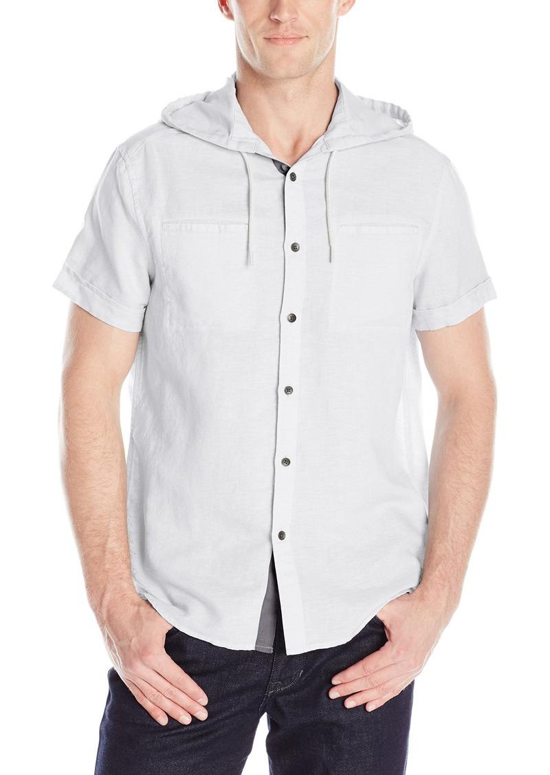 Kenneth Cole REACTION Men's Short Sleeve Hooded Linen