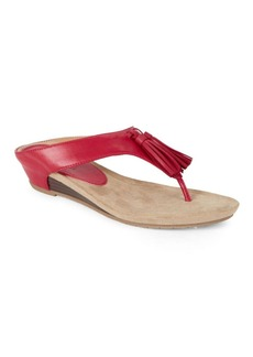 Kenneth Cole REACTION Great Tassel Party Wedge Thong Sandals