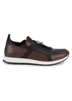 Kenneth Cole REACTION Intrepid Faux-Leather Lace-Up Sneakers