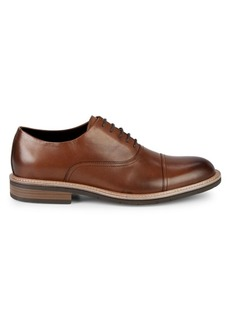 Kenneth Cole REACTION Klay Flex Lace-Up Leather Cap-Toe Oxfords