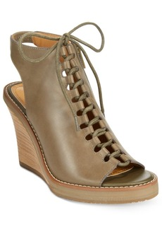Kenneth Cole Reaction Knot 2 Night Lace-Up Wedge Sandals Women's Shoes