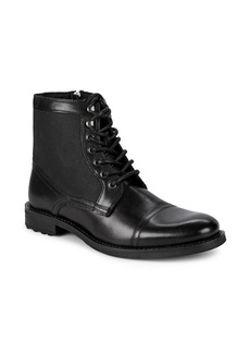 Kenneth Cole REACTION Masyn Leather Lace-Up Boots
