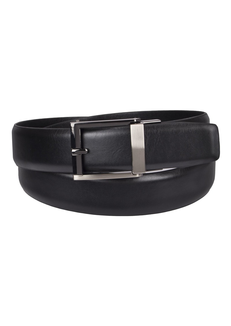 Kenneth Cole REACTION Men's 1.3 in. Wide Adjustable Trackless Perfect Fit Slide Belt -black Small
