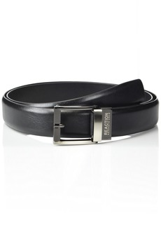 Kenneth Cole REACTION Men's 1.3 in. Wide Adjustable Trackless Perfect Fit Slide Belt  -black Xlarge