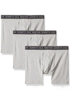 Kenneth Cole REACTION Men's 3 Pack Boxer Brief-Cotton Stretch LT Grey Heather S