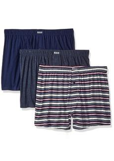 Kenneth Cole REACTION Men's 3 Pack Knit Boxer Aqua Navy S