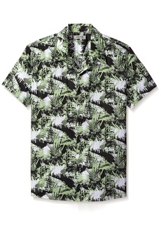 Kenneth Cole REACTION Men's Abstract Print Camp Shirt