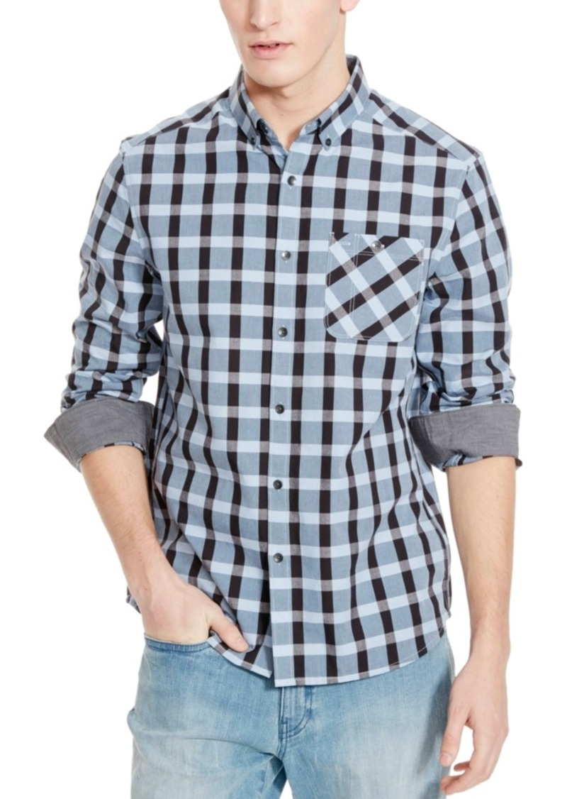 Kenneth Cole Reaction Men's Amesbury Checked Long-Sleeve Shirt