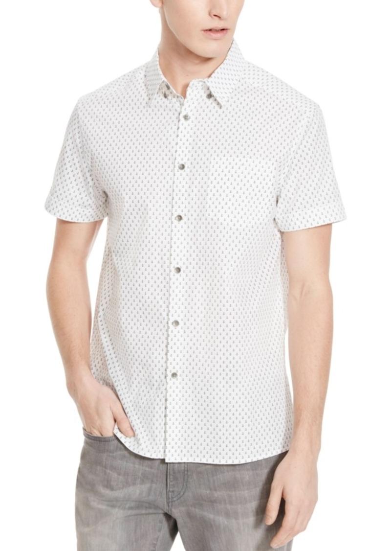 Kenneth Cole Reaction Men's Anchor Print Short-Sleeve Shirt
