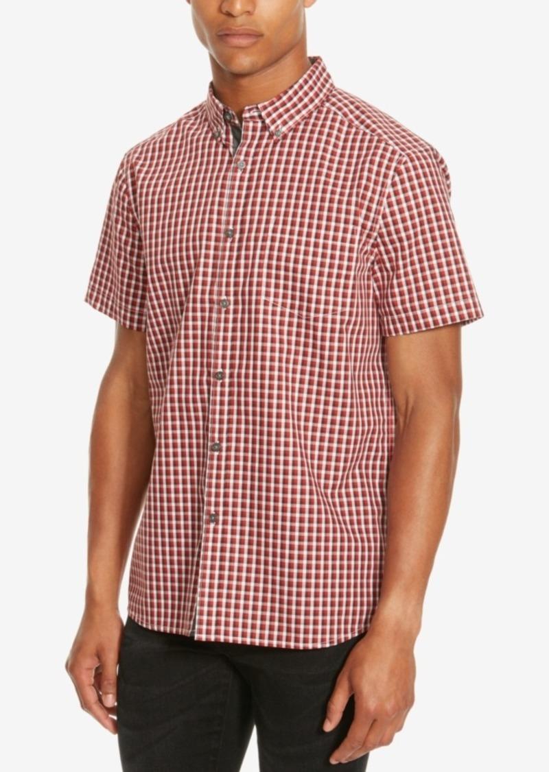 Kenneth Cole Reaction Men's Basford Check Short-Sleeve Shirt