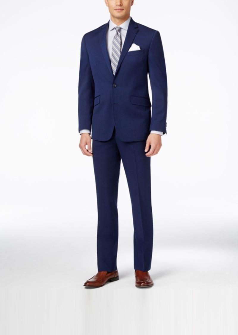 Kenneth Cole Reaction Men's Bright Blue Sharkskin Slim-Fit Suit