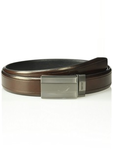 Kenneth Cole REACTION Men's Casual Reversible Belt with Plaque Buckletan/black