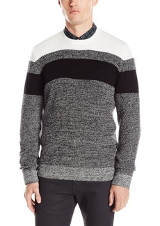Kenneth Cole REACTION Men's Cb Striped Marled Crew