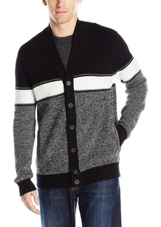Kenneth Cole REACTION Men's Cb Striped Mrld Shawl  X-Large