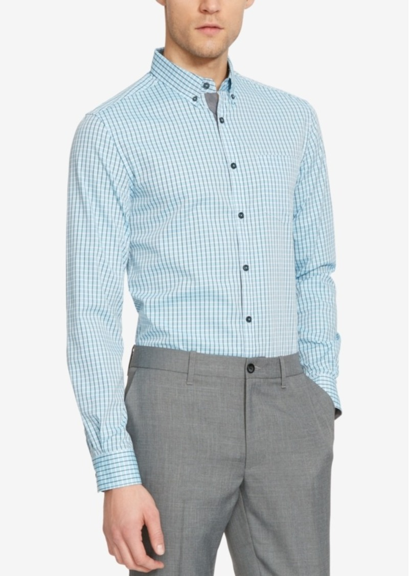 Kenneth Cole Reaction Men's Check Long-Sleeve Shirt