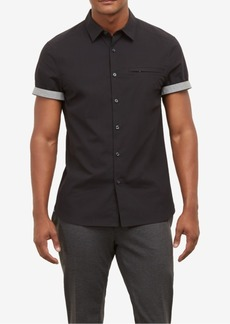 Kenneth Cole Men's Contrast Trim Shirt