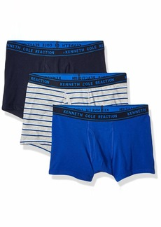 Kenneth Cole REACTION Men's Cotton Stretch Trunk Underwear Multipack SKYC/SURFWS/SWB - 3 Pack