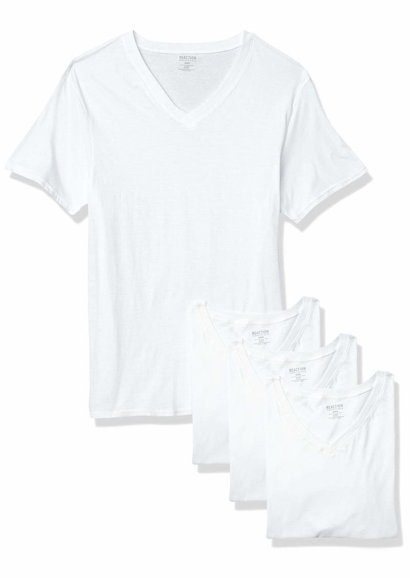 Kenneth Cole REACTION Men's Cotton Stretch V Neck T-Shirt  M