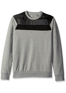 Kenneth Cole REACTION Men's Crew Knit Sweatshirt with Suede