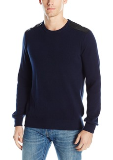 Kenneth Cole REACTION Men's Crew W Plthr TRM  X-Large