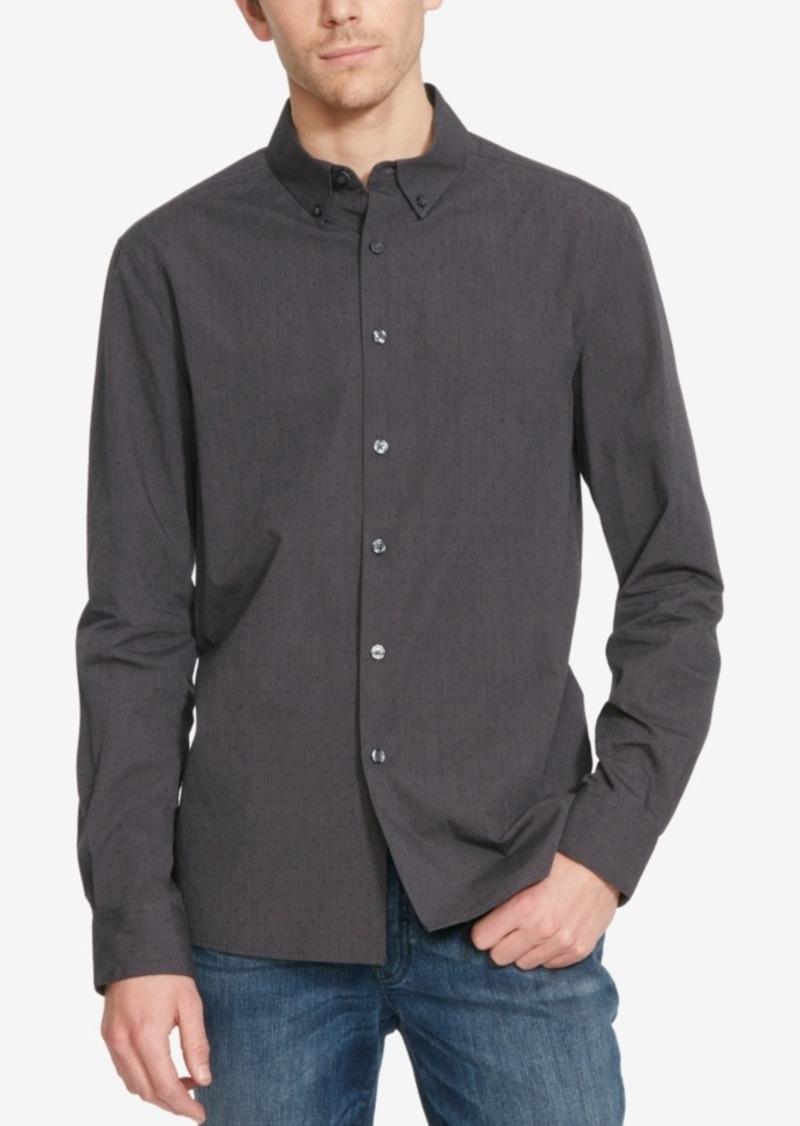 Kenneth Cole Reaction Men's Dot-Print Long-Sleeve Shirt