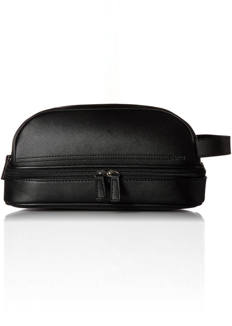 Kenneth Cole Reaction Men S Drop Bottom Travel Toiletry Bag Shaving Kit Black