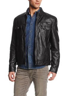Kenneth Cole REACTION Men's Faux-Leather Moto Jacket