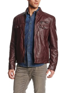 Kenneth Cole REACTION Men's Faux-Leather Moto Jacket  XX-Large