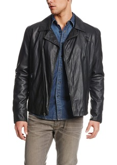 Kenneth Cole REACTION Men's Faux Leather Motorcycle Jacket