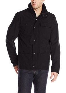 Kenneth Cole REACTION Men's Four Pocket Softshell Jacket