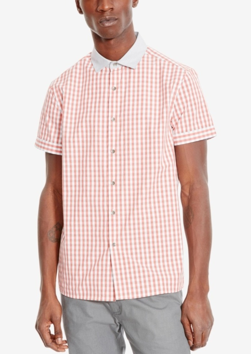 Kenneth Cole Reaction Men's Gingham Check Short-Sleeve Shirt
