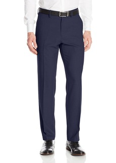 Kenneth Cole Reaction Men's Heather Stretch Modern Fit Flat Front Pant  34x32