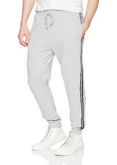 Kenneth Cole REACTION Men's Jogger Pant with Side Tape Light Grey S