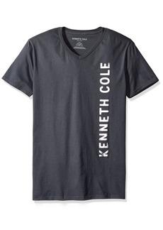 Kenneth Cole REACTION Men's Kc Foil Logo V-Neck