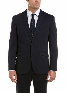 Kenneth Cole REACTION Men's Knit Slim Fit Suit with Hemmed Pant   Regular