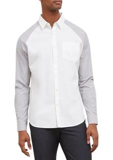 Kenneth Cole REACTION Men's Long Sleeve 1 Pocket Raglan Shirt