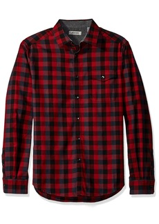 Kenneth Cole REACTION Men's Long Sleeve Flannel Shirt with Flap Pocket