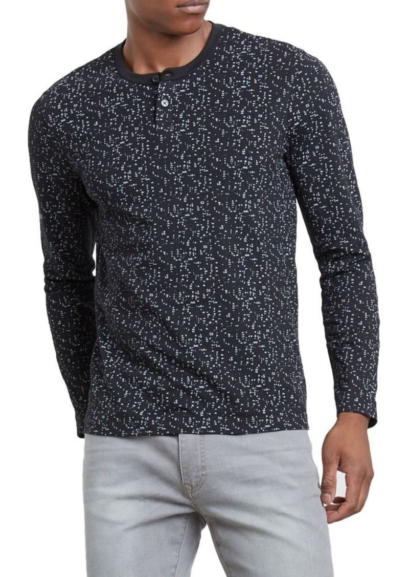 Kenneth Cole REACTION Men's Long Sleeve Henley  M