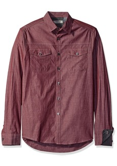 Kenneth Cole Reaction ong-Sleeve Military Chambray Shirt