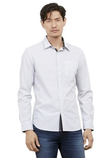 Kenneth Cole REACTION Men's Long Sleeve Slim Diamond Print Shirt