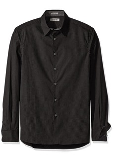 Kenneth Cole REACTION Men's Long Sleeve Slim Geo Oval Print