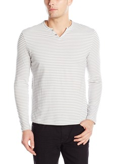 Kenneth Cole REACTION Men's Long Sleeve Stripe Henley Shirt