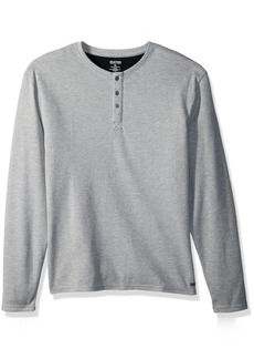 Kenneth Cole REACTION Men's Long Sleeve Waffle Top lightgrey Heather L