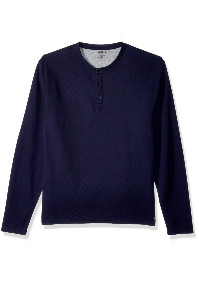 Kenneth Cole REACTION Men's Long Sleeve Waffle Top  S