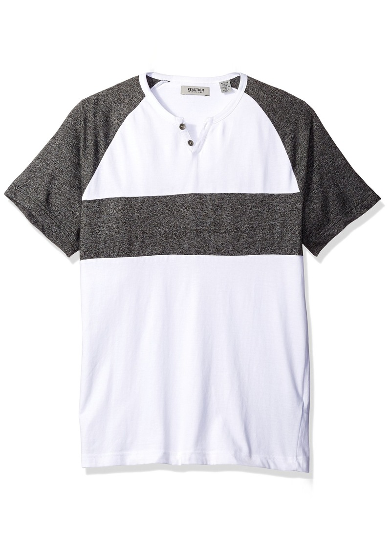 Kenneth Cole REACTION Men's Marled Henley with Stripe