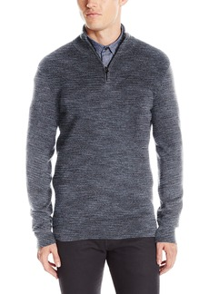 Kenneth Cole REACTION Men's Marled Quarter Zip Sweater