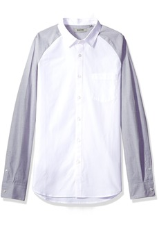 Kenneth Cole REACTION Men's Long Sleeve 1 Pocket Raglan Shirt
