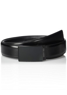 Kenneth Cole REACTION Men's Perfect Fit Adjustable Click Belt with Plaque BuckleblackX-Large