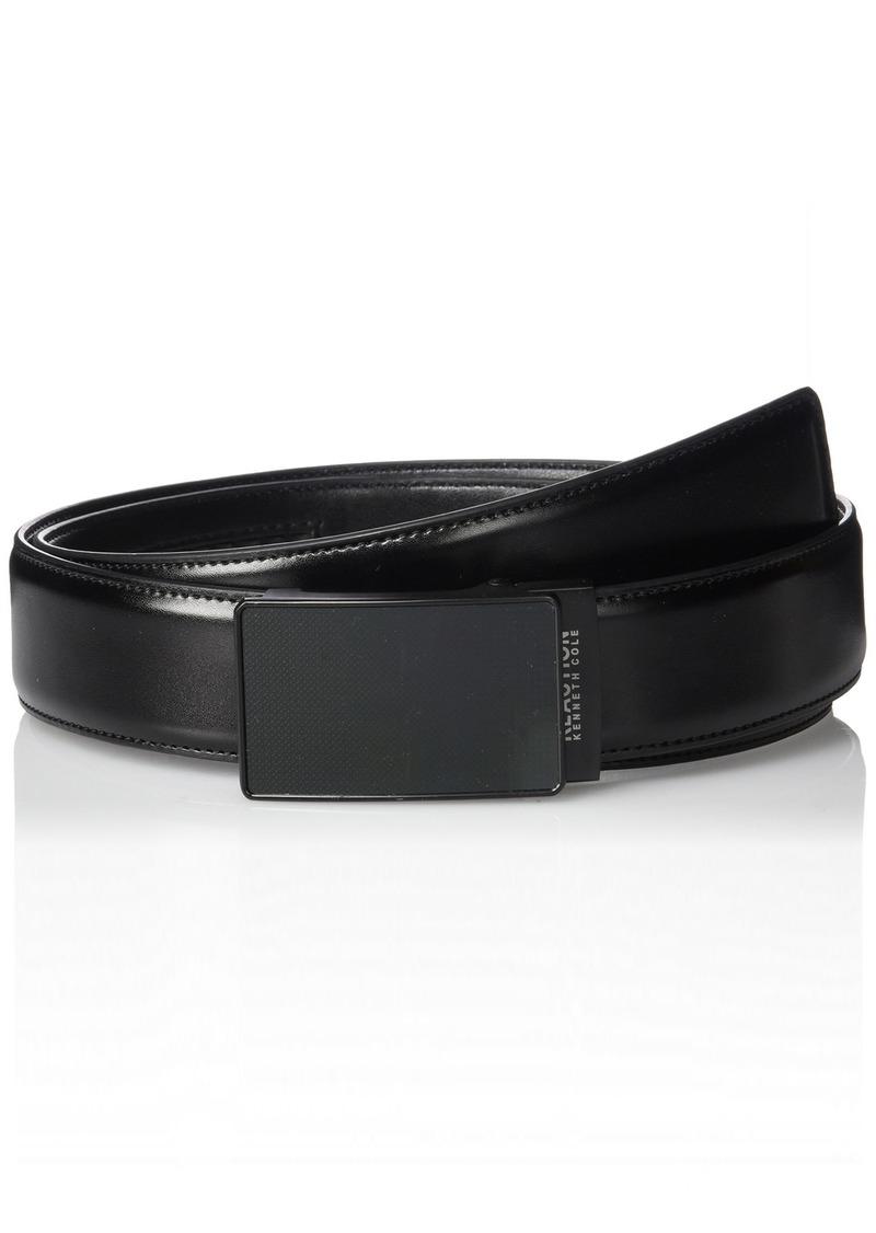 Kenneth Cole REACTION Men's Perfect Fit Adjustable Click Belt with Plaque BuckleblackX-Large
