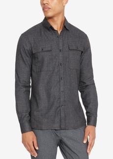 Kenneth Cole Reaction Men's Performance Mini-Check Shirt